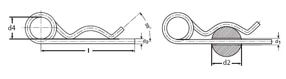 DIN 11024 Spring cotter drawing